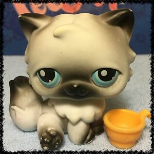 Littlest Pet Shop #60 White & Black Persian Kitty Cat BLEMISHED LOOSE HEAD