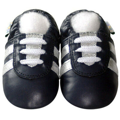 Freeship Littleoneshoes Soft Sole Leather Baby Infant Kids SportNavy Shoes 6-12M
