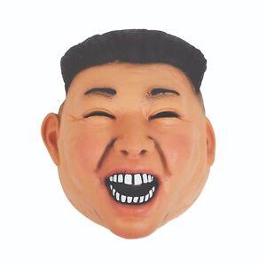 Adulto-NORTE-Coreano-DICTATOR-Kim-Jong-Vinilo-Mascara-Disfraz-Regla-Accesorio