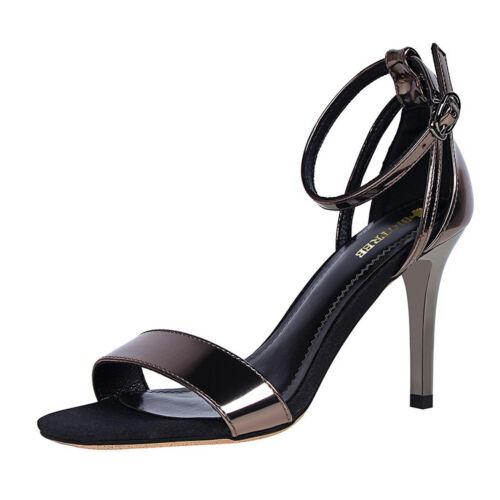 Femmes Sandales Bride Cheville Talons Hauts Bout Ouvert Été Parti Femmes Escarpins Chaussures