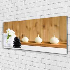 Acrylglasbilder Wandbilder Druck 125x50 Kerzen Badetücher Kunst