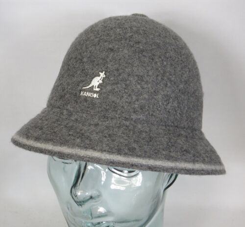 Kangol Stripe Casual Chapeau Bucket a Bobby Gris Casquette Neuf