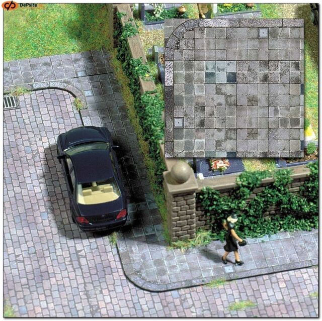 BUSCH HO scale ~ 'PAVED ROADWAY' ~ CARD DECOR SHEETS #7418
