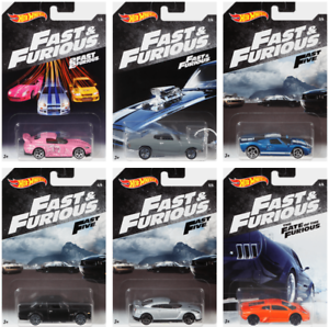 2018-Hot-Wheels-Fast-amp-Furious-COMPLETE-SET-OF-6-Wal-Mart-Exclusives-50th