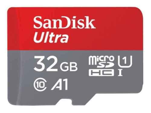 32GB SanDisc Ultra A1 microSDXC Class 10 Speicherkarte 98 MB//s mit SD Adapter