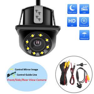 170-HD-CMOS-Car-Rear-View-Backup-Reverse-Camera-8-LED-Night-Vision-Waterproof