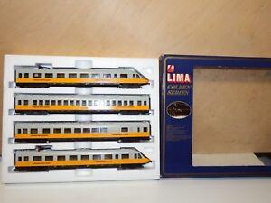 H0-lima-dc-149748-gp-lufthansa-Airport-Express-4-piezas-como-nuevo-OVP-8763