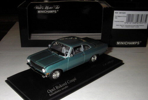 Minichamps 1 43 - Opel Rekord A Coupe - 1962 - Turquois