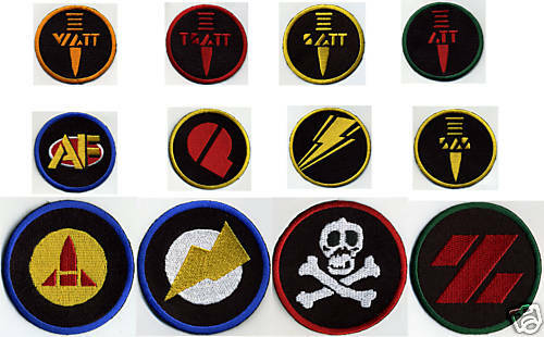 3  entièrement brodé GI JOE ACTION FORCE Patch Set