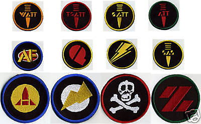 """3/"""" Fully Embroidered GI Joe Action Force Patch Set 12 patches, iron-on"""
