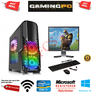 Fast-Gaming-PC-Intel-Core-i7-Quad-Core-Computer-16GB-Ram-1TB-120GB-SSD-2GB-GT710