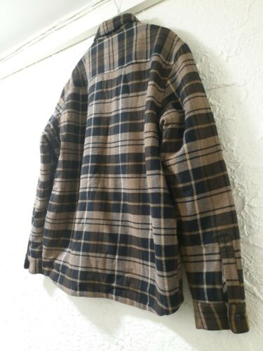 L Men/'s Brown Plaid Sherpa Lined SHAKET Jacket NEW TAG SOLD OUT RARE M XL ONLY