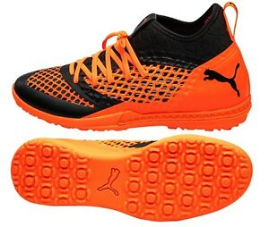 PUMA Men Future Net-Fit 2.3 TT Cleats Soccer Orange Futsal Shoes ... 6c5baba8b