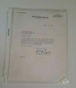 Vintage-Political-US-Senate-William-Saxbe-Signed-Letter-Dated-1970-Collectible