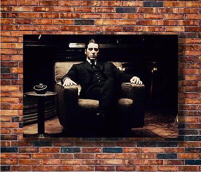 Hot Fabric Poster Al Pacino Portraits Godfather 2 Mafia Classic Movie 27 Z2065
