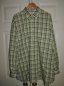 John-W-Nordstrom-Checkered-Pocket-Front-Shirt-Size-XL