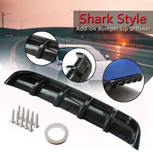 25x5-034-Glossy-Black-Car-ABS-Rear-Shark-Style-Curved-Bumper-Lip-Diffuser-6