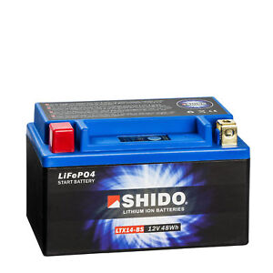 Shido-Lithium-Motorradbatterie-Starterbatterie-LTX14-BS-12V-YTX14-BS-YTX14H-BS