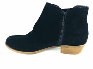 Kenzie-Women-039-s-Sz-8-5-Leather-Garry-Ankle-Boots-Black-Zip-Up