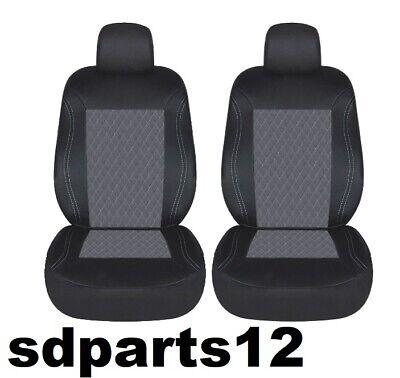 2 x COPRISEDILI PER AUTO COPPIA PER SEDILI ANTERIORI Adatta Ford Fiesta Grigio antracite SERIE 1
