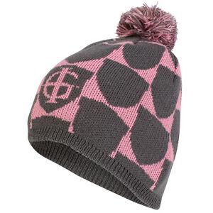 Ladies Island Green Golf Bobble Pom Pom Hat Dark Grey   Pink Warm ... 4541dd71d