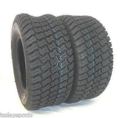TWO New 16x6.50-8 N766 TURF TIRES 4 P.R. Tubeless Tractor Rider Mower John Deere