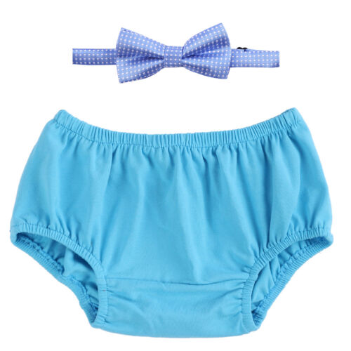 Baby Boy 1st Birthday Outfit Diaper Cover Bloomer Bowtie Cake Smash Photo Props