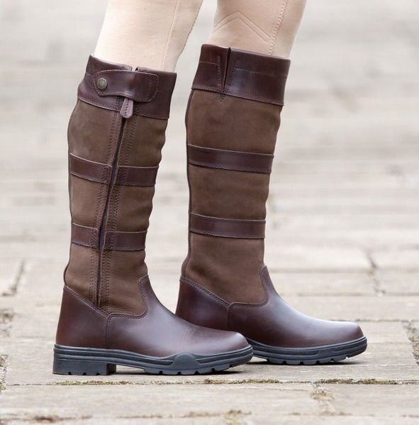 Shires  Broadway Long Leather Boots Waterproof Leather Outer Rubber Sole  hot sale