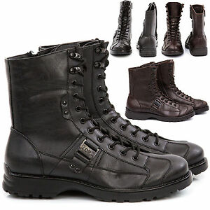 Stivali Stivaletti Scarpe Uomo Pelle PU Polacchini Anfibi Sneakers Camperos S68s