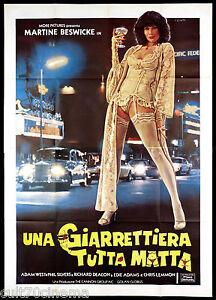UNA GIARRETTIERA TUTTA MATTA MANIFESTO CINEMA BESWICK 1978 SEXY MOVIE POSTER 4F
