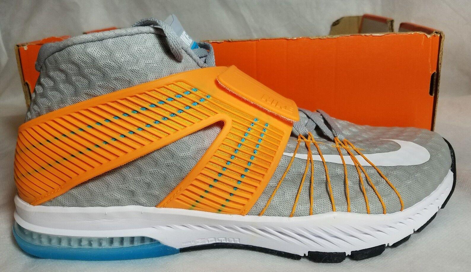New Nike Zoom Train Tornada Strap Running shoes Men Size 11 Wolf Grey orange
