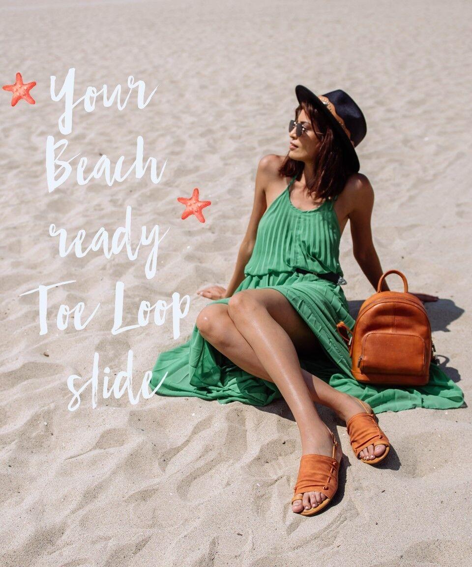 New Mi.iM Nikki Loop orange Sandals Slides (Free People Lake House Dupe) 6-10 US