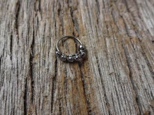 Christmas Black Nose Hoop Crystal Nose Ring Indian Nose Ring Diamond Nose Ring
