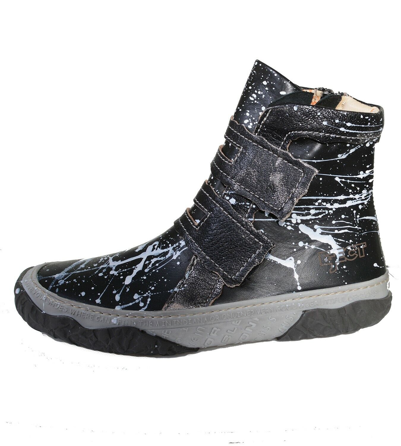 Eject Shara Grafitti Comfort Women's Ankle Boots Touch Fastener