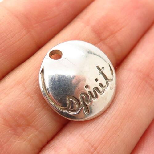 "Details about  /925 Sterling Silver Robert Lee Morris ""Spirit"" Round Concave Slide Pendant"