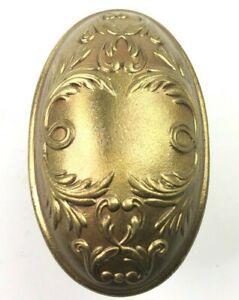 Antique Oval Egg Victorian Door knobs Set Leaves Hardware Ornate Fancy Authentic