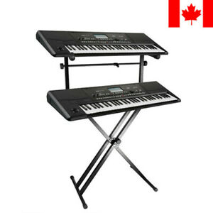 X-Style-Pro-Dual-Music-Keyboard-Stand-Electronic-Piano-Double-2-Tier-Adjustable