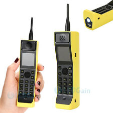 Classic Mini Old Vintage Retro Brick Mobile Phone USB Camera FM Dual SIM Yellow