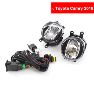 For Toyota Camry 2018 Fog Light Car Front Bumper Grille Driving Lamps
