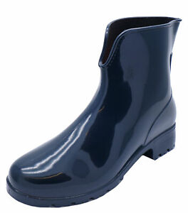 WOMENS-NAVY-ANKLE-GARDEN-WELLIES-WELLINGTON-WALKING-RAIN-BOOTS-SHOES-SIZES-3-8