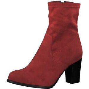 Details zu Tamaris Damen Stiefelette rot Größe 38 38 Touch It Strech 25782 Lipstic