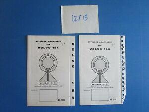 SystéMatique N°12513 / Volvo 144 Et 164 : 2 Dépliants Attelage Adaptables