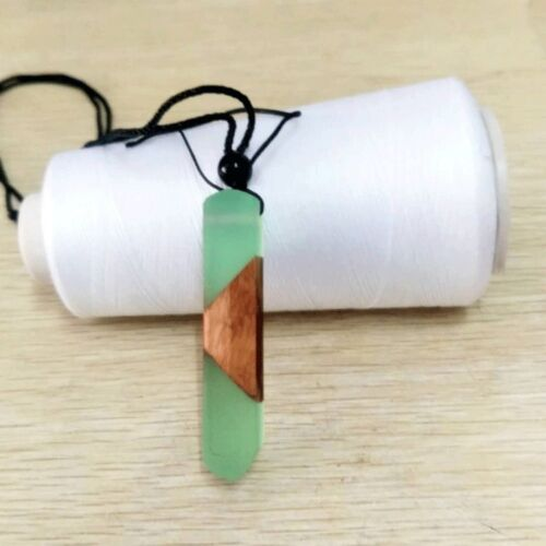 New HOT Handmade Resin Wood Pendant Necklace Wooden Jewelry For Men Women