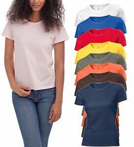 Hanes-Plain-Summer-Weight-Organic-Cotton-Ladies-Womens-Womans-Girls-Tee-T-Shirt