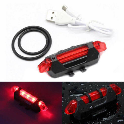 Rear Tail Lamp UK Bike Bicycle Lights USB LED Rechargeable MTB Front Headlight
