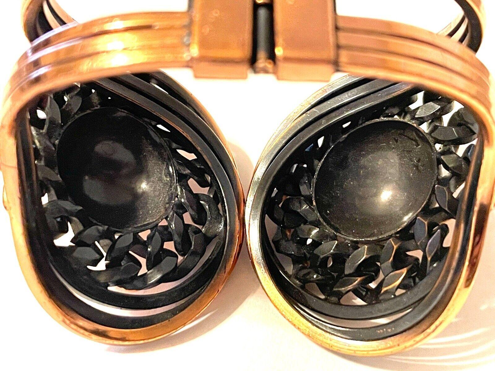 Vintage Mid Century Modern Copper Clamper Bracele… - image 5