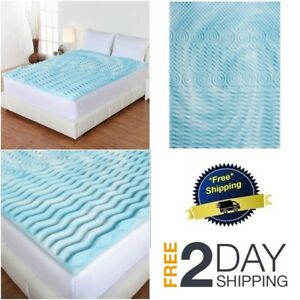 Mattress-Topper-Gel-Memory-Foam-2-034-Orthopedic-Pad-Bed-Cover-Firm-Full-Queen-King