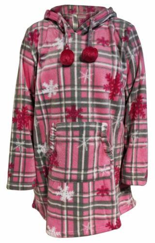 Womens Hooded Dress Fleece Pullover Long Sleeve Ladies Kangaroo Pocket Warm Top