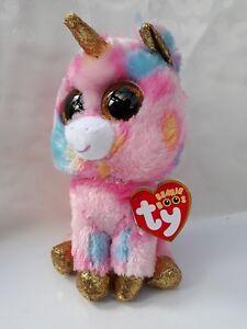 Ty Beanie Boo FANTASIA The Unicorn 15cm Original Soft Pink Plush Toy ... 0e934f69e65