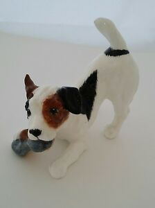 1e05ade2148 Royal Doulton Parson Jack Russell Terrier With Shoe HN2554 Figurine ...